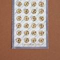 Мини кнопки 5 мм под золото (24шт)