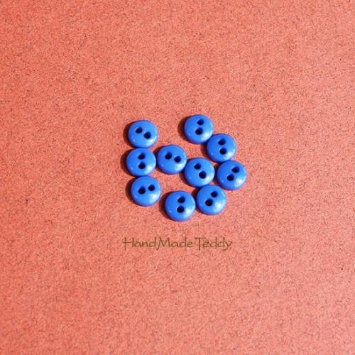 Мини пуговки 5 мм синие