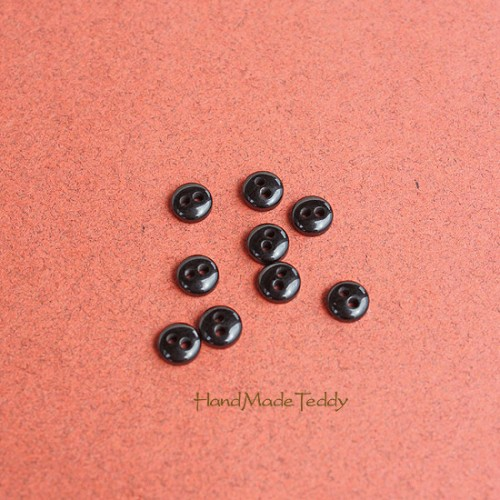 Мини пуговки 5 мм чёрные
