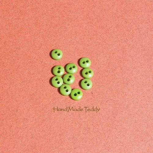 Мини пуговки 5 мм зелёные