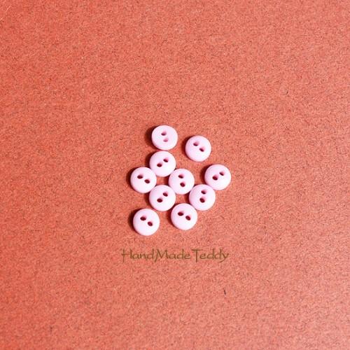 Мини пуговки 5 мм розовые