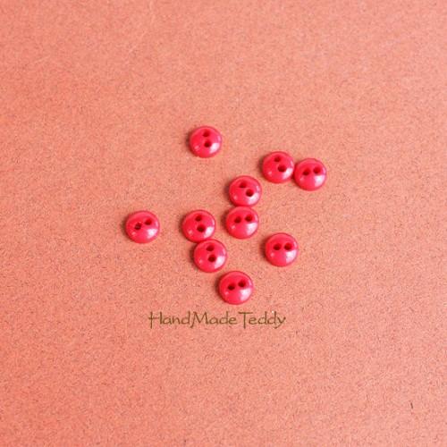 Мини пуговки 5 мм красные