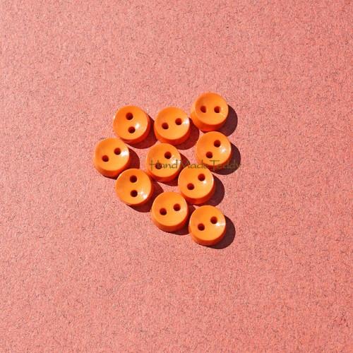 Пуговки 6 мм круглая оранжевая