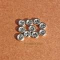 Мини пуговки 5 мм серебро