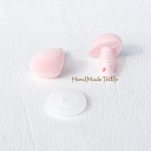 Нос флокированный розовый