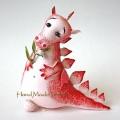 Дракон мини розовый
